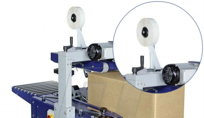 Machine coil of adhesive tapes