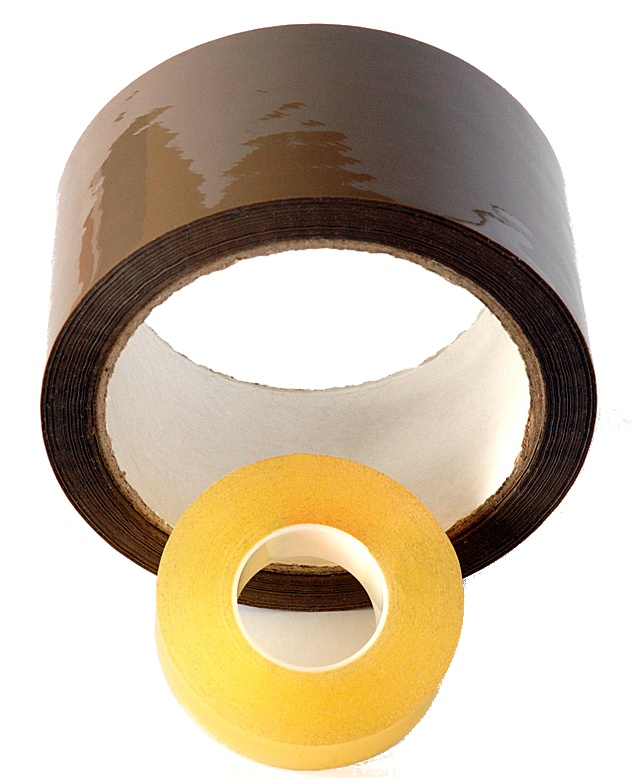 A polypropylene adhesive tape of a tape made of PVC?