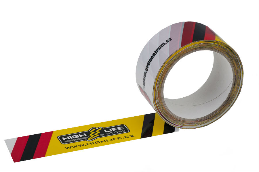 Polypropylene custom printed adhesive tapes - sandwich technology (BOPP)
