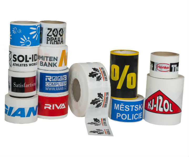 Warning and marking printed tapes